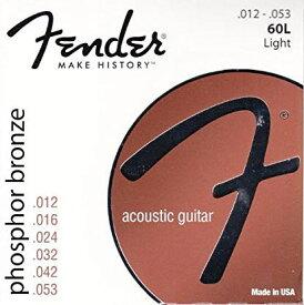 Fender 《フェンダー》 Phosphor Bronze Acoustic Guitar Strings L60 [ライト/.012-.053]