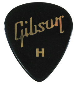 Gibson USA Gross Black Standard Style Pick [APRGG-74H] (ティアドロップ型/ヘヴィ)×10枚セット