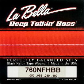 "La Bella 《ラベラ》 760NFHBB for Hofner ""Beatle Bass"" [Black Nylon]"