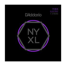 D'Addario 《ダダリオ》 NYXL Series 7-String Electric Guitar Strings [NYXL1164 Medium, 11-64]