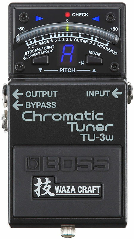 """BOSS 《ボス》 TU-3W(J) """"MADE IN JAPAN"""" [Chromatic Tuner 技 Waza Craft Series Special Edition] 【期間限定★送料無料】】【IKEBE×BOSSオリジナルデザイン缶クージープレゼント】【ひなっち解体新書プレゼント!】"""