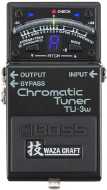 """BOSS 《ボス》 TU-3W(J) """"MADE IN JAPAN"""" [Chromatic Tuner 技 Waza Craft Series Special Edition] 【期間限定★送料無料】】 【ひなっち解体新書プレゼント!】"""