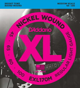 D'Addario 《ダダリオ》 XL Nickel Round Wound EXL170M