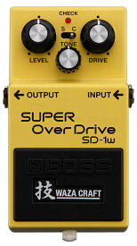 BOSS 《ボス》 SD-1W(J) [MADE IN JAPAN] [SUPER OverDrive 技 Waza Craft Series Special Edition] 【期間限定★送料無料】 【ef_p5】【IKEBE×BOSSオリジナルデザインピックケースプレゼント】