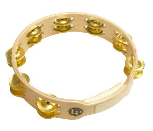 """LP 《Latin Percussion》LP382-B [10"""" Wood Tambourine Double Row with Brass Jingles]※お取り寄せ品"""
