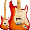 Fender 《フェンダー》 American Ultra Stratocaster HSS Ash (Plasma Red Burst/Maple)
