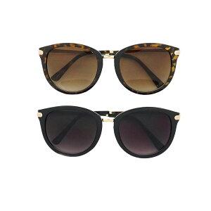 サングラス メンズ レディース ブランド スモーク ブラウン ハーフ レンズ ブラック デミ ゴールド フレーム おしゃれ UVカット サングラスケース 7JEWELRY ボストン サングラス
