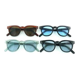 サングラス メンズ レディース ブランド ブルー グレー ブラウン レンズ おしゃれ UVカット サングラスケース 7JEWELRY ウェリントン サングラス
