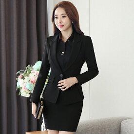スーツ レディース ビジネススーツ 3点セット オフィス 女性 長袖 フォーマル 大きいサイズ 洗える エレガント リクルート 面接 就職 通勤 20代 30代 40代 50代 スカートスーツ ブラック 黒