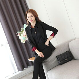 スーツ レディース ビジネススーツ 3点セット オフィス 女性 長袖 フォーマル 大きいサイズ 洗える エレガント リクルート 面接 就職 通勤 20代 30代 40代 50代 ブラック 黒 パンツスーツ