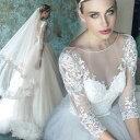 ウエディングドレス 長袖 ロングドレス 花嫁 ドレス ウェディングドレス プリンセスラインドレス 結婚式 二次会 ブラ…