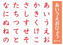 ☆七田式(しちだ)教材☆ 赤のあいうえお表 ☆ ★
