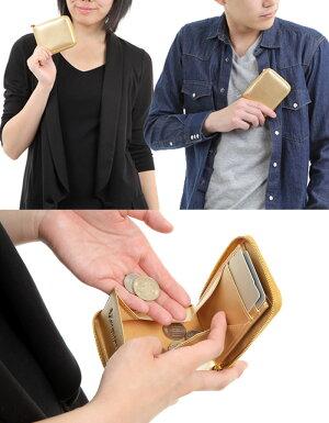 金運財布小銭入れボビー占い風水パワー開運財布メンズレディース金運アップ革ブランドコインケースカードも入るおすすめカードケースコンパクト本革出しやすいボックスファスナーラウンドファスナーボックス型レザーゴールド金色風水財布