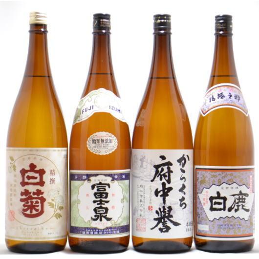 関東の灘と言われた茨城県石岡市の地酒4本セット 1800ml×4本【RCP】