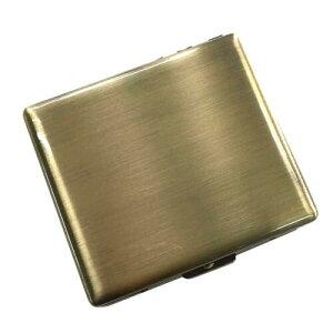 RYO ケース20 手巻きたばこ用 シングル70mm スリム 20本いれ メタルシガレットケース (真鍮古美) シャグ 坪田パール【メール便250円対応】
