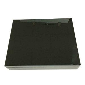 木製 オリジナル シガーボックス HL110B ヒュミドール 湿度計付きセット ブラック【取寄せ品】