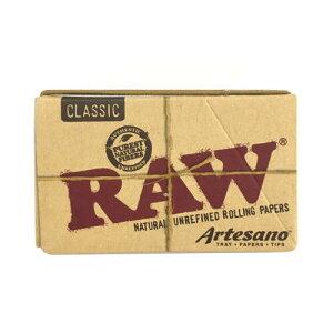 RAW クラシック ローリングペーパー・アルテサーノ 76mm(50枚入+チップ32枚入) 1 1/4 サイズ 喫煙具 手巻きタバコ シャグ ロウ【メール便250円対応】