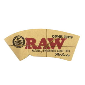 RAW ロー コーンチップス 32枚入り ロールフィルター 喫煙具 手巻きタバコ シャグ ロウ【メール便250円対応】