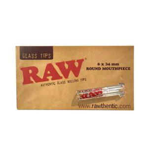 RAW ガラスチップス ラウンド ロー フィルター 喫煙具 手巻きタバコ シャグ【メール便250円対応】