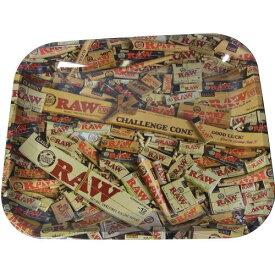 RAW ロー メタルトレー ミックスデザイン ラージサイズ シャグ 喫煙具 ロウ【メール便発送は出来ません】