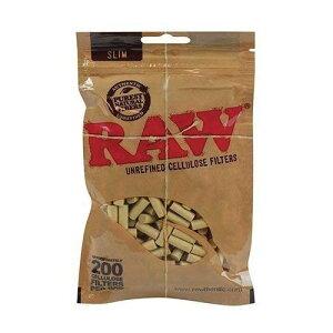 RAW ロー セルロースフィルター スリムサイズ 約200個入り 喫煙具 手巻きタバコ シャグ ロウ【メール便250円対応】