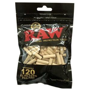 RAW ロー XLフィルター スリム セルロース 約120個入り 喫煙具 手巻きタバコ シャグ ロウ【メール便250円対応】