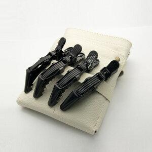 【メール便可】DEEDS C-0010 プロ用 ダッカール ワニクリップ ブラック 黒/ 美容師 理容 理容師 散髪 シザー クリップ