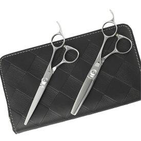 【送料無料】日本の鋏専門メーカー 鍛造仕上 セニングのスキ率が選べる/DEEDS JP-02 シザー セニング セット 美容師 理容 理容師 散髪 はさみ シザー セニング