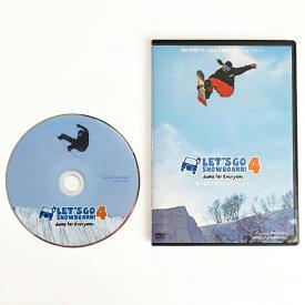 【レッツゴースノーボード 4 DVD LET'S GO SNOWBOARD 4 フリーラントピック&トリック】HOW TO ドキュメンタリー ハウツー ムービー ネコポス便送料無料 初級者 中級者 上級者