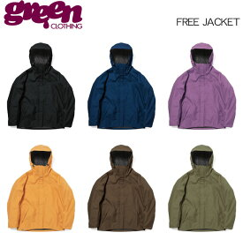 【19-20 GREEN CLOTHING FREE JACKET】グリーンクロージング フリージャケット スノーボードウェア 2020 送料無料