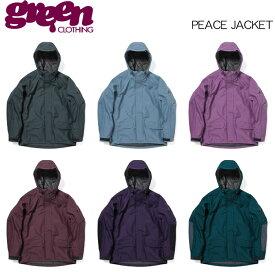 【 19-20 2020 GREEN CLOTHIG PEACE JACKET 】グリーンクロージング ピースジャケット スノーボードウェア