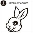【UG. MADBUNNY ステッカー Sサイズ】マッドバニー ウサギ バニー フジロック フェス ネコポス便
