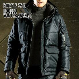 BURTLE 7510 大型フード付 防寒ジャケット 素材 ポリエステル100% ネイビー カーキ 黒 青 バートル 秋冬 作業着 防寒着 上下 防寒ジャンパー メンズ ユニセックス レディース かっこいい ビジネス アウター
