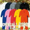つなぎ レディース 作業着 作業服 9800 SOWA 選べる10色 長袖 つなぎ綿100% オープンカラーレディースサイズ ビッグサイズ 対応