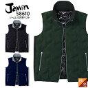 ジャウィン 防寒ベスト 58610 Jawin 高密度タフタ素材使用 作業服 作業着 防寒服 防寒着