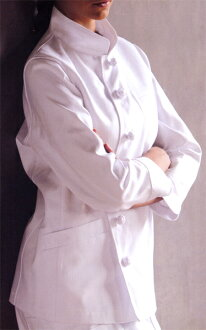 "HM119-C10 ladies ' cock coat 7-full color sleeve (kitchen style of white uniforms ""KAZEN.)"