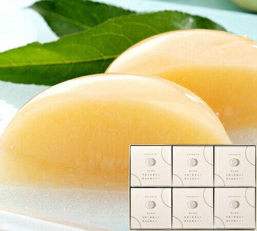 清水白桃半割り果実ゼリー(6個入)木箱入【お歳暮ギフト】