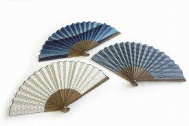 阿波しじら織扇子 日本製 ギフト 父の日 祭り 夏 選べる3柄