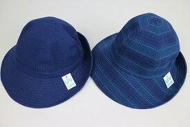 阿波しじら織帽子 女性用 日本製 ギフト 母の日 夏  UVケア 選べる2柄 Mサイズ Lサイズ ゴム紐付