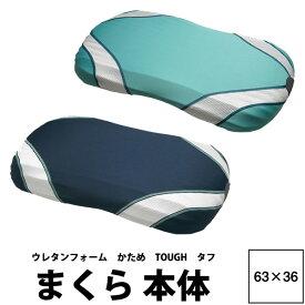 【東京西川】 エアー まくら TOUGH タフ 63×36cm AIR 3D エアー3D AI0010 やさしく受けとめ、しっかりと安定サポート 高め13cm 低め10cm 高さ調節可能 頭圧分散 ウレタンフォーム 日本製 エアー3Dピロー 枕 枕本体 ネイビー ライトグリーン