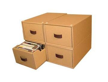 DVD収納ボックス4個組~2重構造で丈夫!備長炭シート付・スタッキングできます