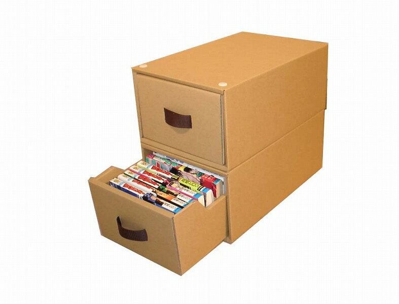 コミック本収納ボックス4個組〜2重構造で丈夫!スタッキングできます