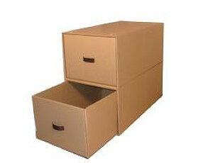収納ボックス4個組(奥行き74cm×幅39cm×高さ30cm)スチール枠・インデックスシール付