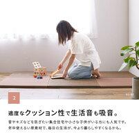 軽くて小さいサイズの置き畳湊川約65×65×2.5cm(約半畳)(正方形)1枚軽い軽量へりなしフロア畳ユニット畳システム畳フローリング床用可愛いカラフルい草の置き畳