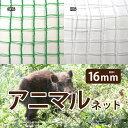日本製 国産 アニマルネット ワイドラッセル 約幅2×長さ50m(16mm)GR16・N16 動物よけ 農業用ネット 害獣ネット 防護ネット