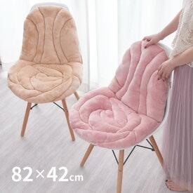 バラの形をかたどったかわいいバラ柄の姫系クッション ローズ 約82×42cm とろける肌触りの座椅子クッション 薔薇雑貨 インテリア雑貨 厚手座椅子カバー 子供部屋 女の子 ダイニングチェアやオフィスチェアにも! クリスマスプレゼント