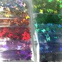 【5/20再入荷】蝶のホログラムセット/12色セット/ネイル/レジン/封入/オーロラ/ハンドメイド