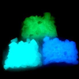 (ライトグリーン)蓄光カレット 10g レジン 封入 ガラス 緑 暗闇で光る
