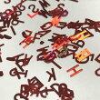 アルファベットのホログラムK5mmレッドオーロラネイルレジン封入英字赤ハンドメイド