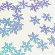 クリスタルのホログラムZブルーパープルレジン封入雪の結晶パリパリパーツハンドメイド